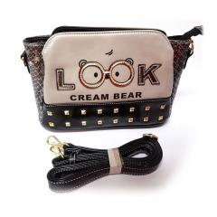 Originální dámská/dívčí kabelka Cream Bear, C1032-2