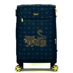 Originální dámský/dívčí kufr Sammao, modrá, velký, M1129-2 blue
