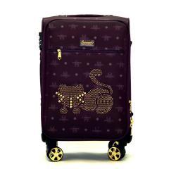 Originální dámský/dívčí kufr Sammao, vínová, střední, M1129-3