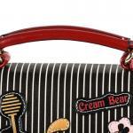 Luxusní, designová kabelka značky Cream Bear, dámská / dívčí, malá,