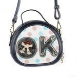 Luxusní, designová kabelka značky Sammao, dámská / dívčí, malá, kulatá