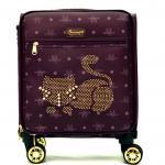 Originální dámský/dívčí kufr Sammao, vínová, malý, M1129-4