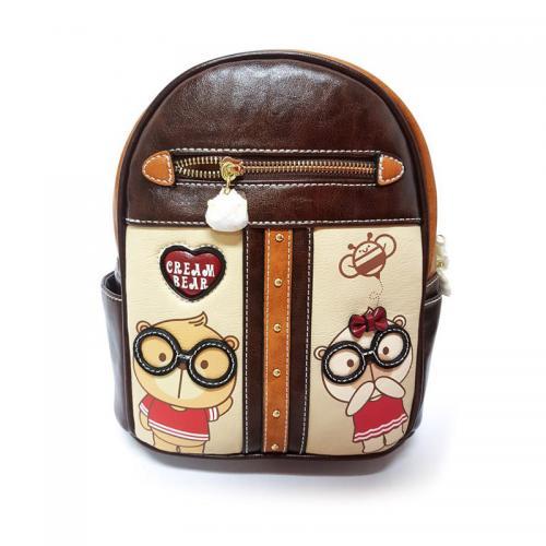 Originální dámský/dívčí batoh Cream Bear, C1037-3