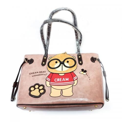 Originální dámská/dívčí kabelka  Cream Bear, C1035-2