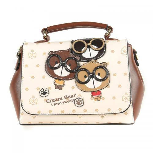 Originální dámská/dívčí kabelka  Cream Bear, C1002-1