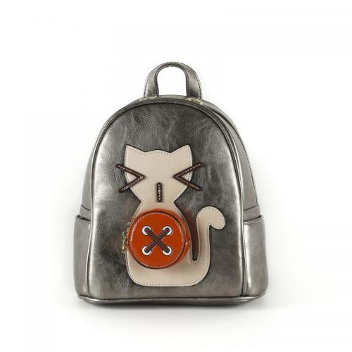 Originální dámský/dívčí batoh Sammao, M1229-2 silver