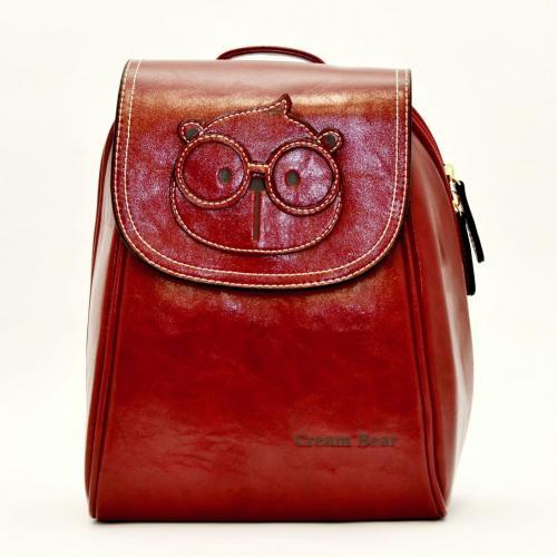 Originální dámský/dívčí batoh Cream Bear, C1012-4 red