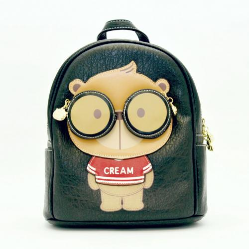 Originální dámský/dívčí batoh Cream Bear, C1015-1 black