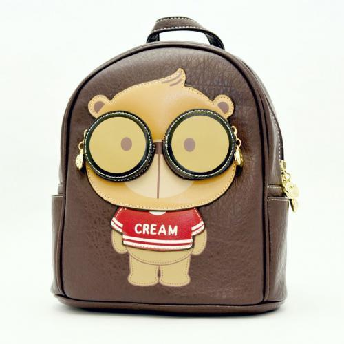 Originální dámský/dívčí batoh Cream Bear, C1015-1 brown