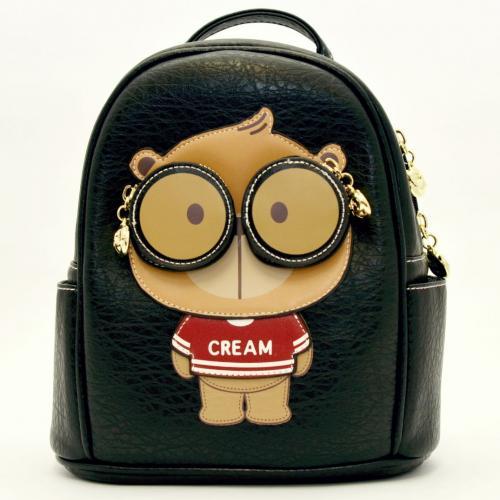 Originální dámský/dívčí batoh Cream Bear, C1015-2 black