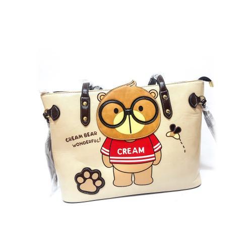 Originální dámská/dívčí kabelka  Cream Bear, C1035-3